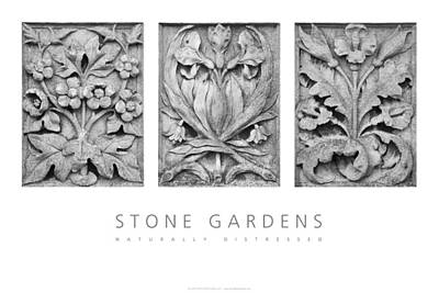 Poster featuring the digital art Stone Gardens 2 Naturally Distressed Poster by David Davies