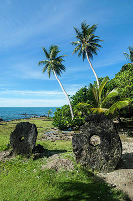 Stone Money On Yap Island, Micronesia Poster by Michael Runkel