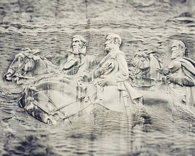 Stone Mountain Georgia Confederate Carving Poster by Lisa Russo