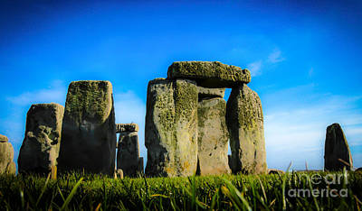 Stonehenge From The Earth Poster by David Warrington