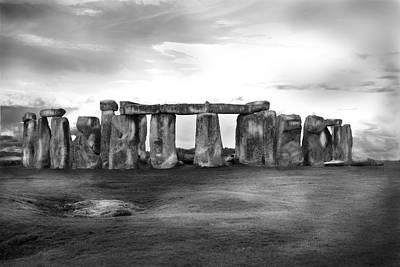 Stonehenge In The Rain Poster