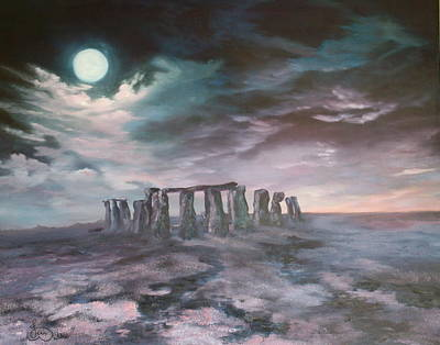 Poster featuring the painting Stonehenge In Wiltshire by Jean Walker
