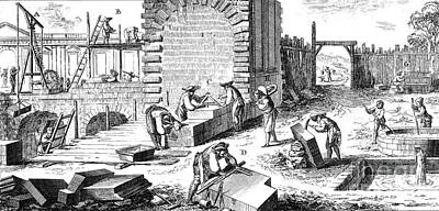 Stonemasonry, 18th Century Poster by Photo Researchers