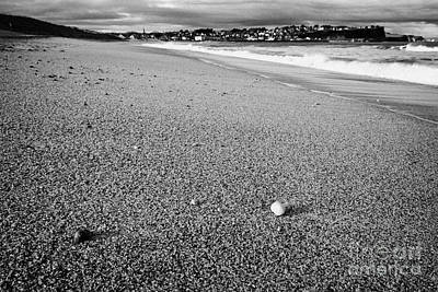 Stones And Pebbles On Ballycastle Beach In Winter County Antrim Northern Ireland Poster by Joe Fox