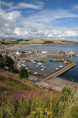 Poster featuring the photograph Stonhaven Harbour  Scotland by Jeremy Voisey