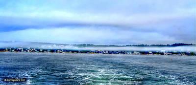 Stonington In The Mist Poster
