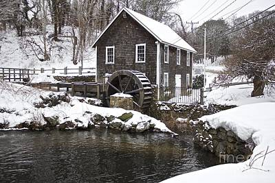 Stony Brook Grist Mill Of Brewster Poster by Amazing Jules