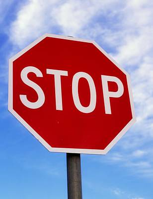 Stop Sign Ireland Poster by The Irish Image Collection