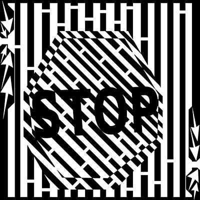 Stop Sign Maze Poster