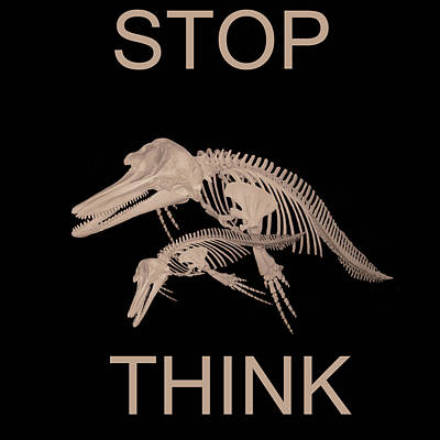 Stop Think Poster by Eric Kempson