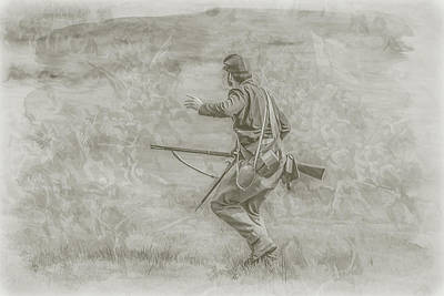 Stopping Pickett's Charge At Gettysburg Poster by Randy Steele