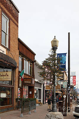 Storefront Shops In Truckee California 5d27490 Poster by Wingsdomain Art and Photography