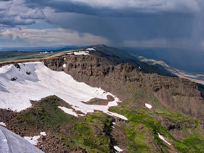 Storm Above Steens Mountain Poster by Kathleen Bishop