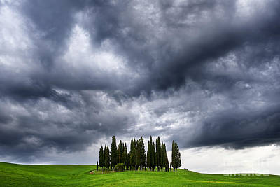 Storm Approcing The Tuscan Countryside Poster by Yuri Santin