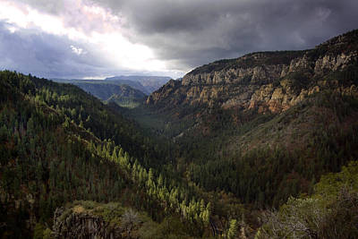 Storm At Oak Creek Canyon Poster