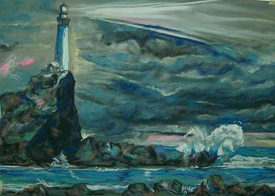 Poster featuring the pastel Storm Breaking by Peter Suhocke