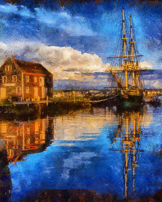 Storm Clearing Over Salem Poster by Jeff Folger