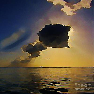 Storm Cloud Over Calm Waters Poster