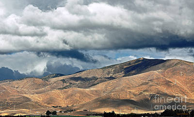 Storm Clouds Floating Above Mountains Poster by Susan Wiedmann