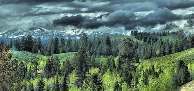 Storm Clouds In The Tetons Poster