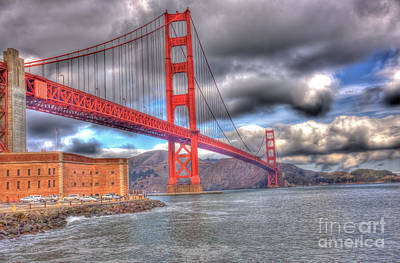 Storm Clouds Over The Golden Gate Bridge 2 Poster