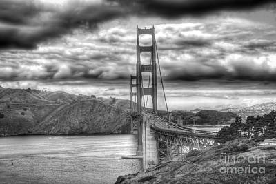 Storm Clouds Over The Golden Gate Bridge Poster