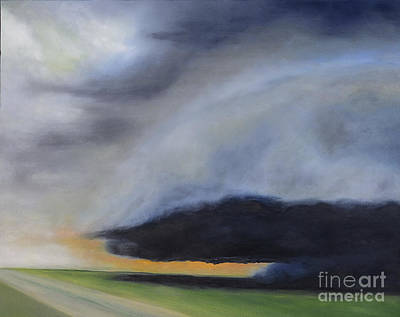 Poster featuring the painting Storm Coming.. by Barbara Anna Knauf