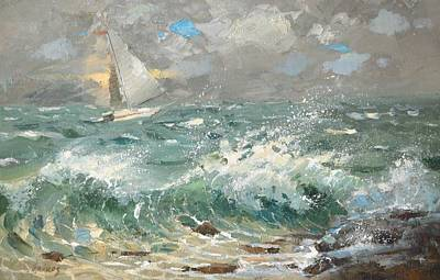 Poster featuring the painting Storm by Dmitry Spiros
