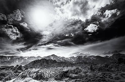 Storm In The Alabama Hills Poster by Jennifer Magallon