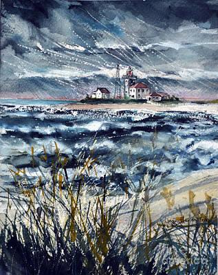 Storm On Block Island Sound Poster