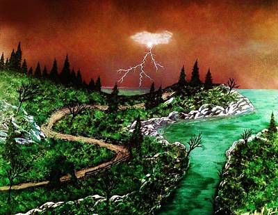 Poster featuring the painting Storm by Michael Rucker
