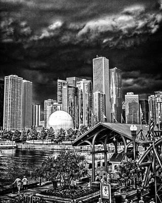 Storm Over Chi Town Poster by Robert  FERD Frank