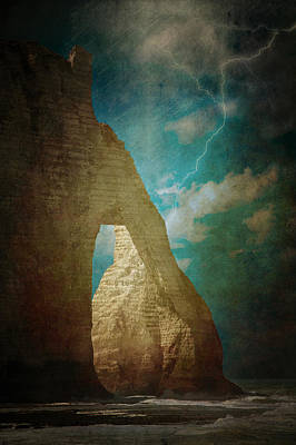 Storm Over Etretat Poster by Loriental Photography