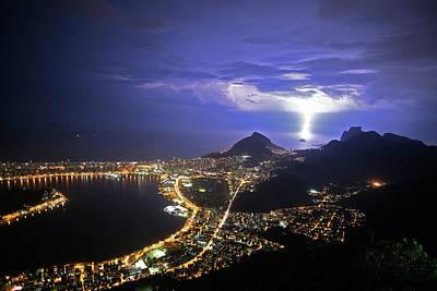 Storm Over Rio De Janeiro Poster by Babak Tafreshi
