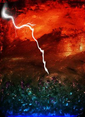 Storm Over Umbria Poster by Dorothy Berry-Lound