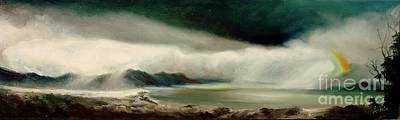 Poster featuring the painting Storm by Sorin Apostolescu