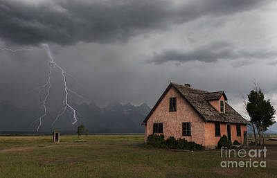 Stormy Teton Morning Poster