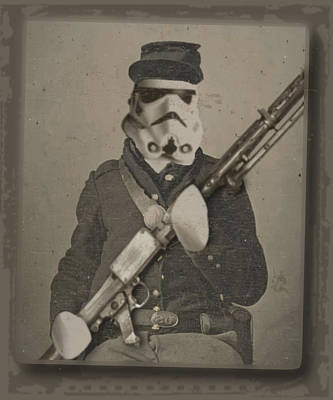 Storm Trooper Star Wars Antique Photo Poster