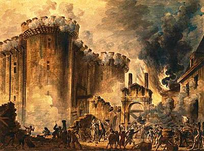 Storming Of The Bastille Poster by Jean-Pierre Houel
