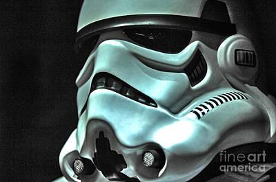 Stormtrooper Helmet 11 Poster by Micah May