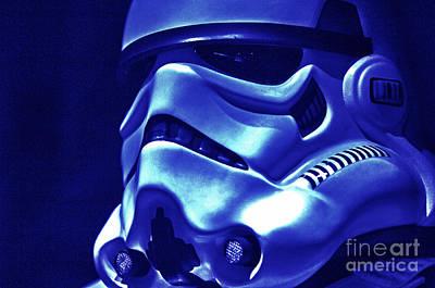 Stormtrooper Helmet 21 Poster by Micah May