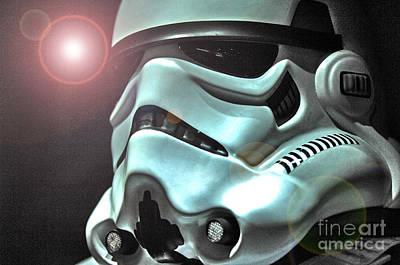 Stormtrooper Helmet 27 Poster by Micah May