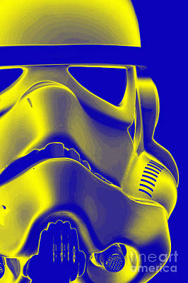 Stormtrooper Helmet 5 Poster by Micah May