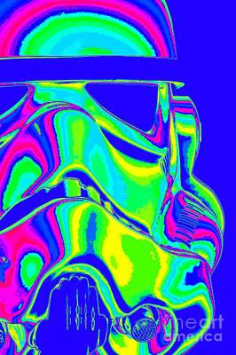 Stormtrooper Helmet 7 Poster by Micah May