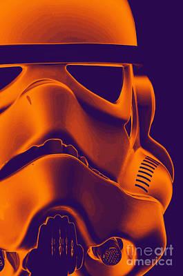 Stormtrooper Helmet 9 Poster by Micah May