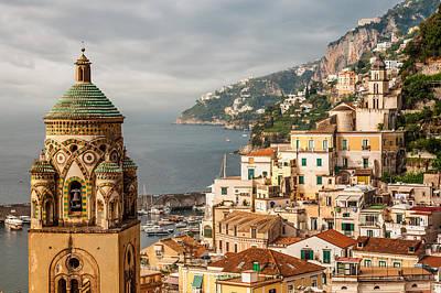 Stormy Amalfi Poster