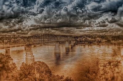 Stormy Clouds Poster by Dennis Baswell