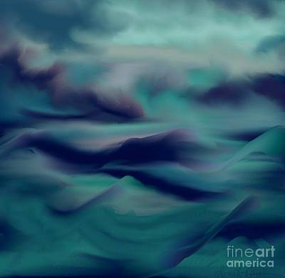 Poster featuring the painting Stormy Days by Lori  Lovetere