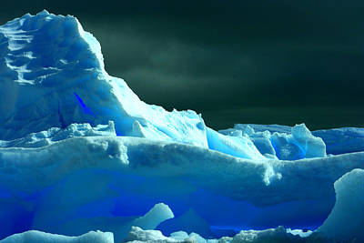 Poster featuring the photograph Stormy Icebergs by Amanda Stadther