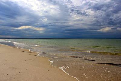 Stormy Mayflower Beach Poster